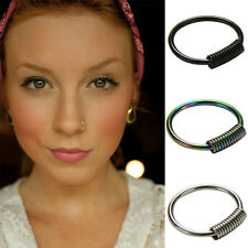 1Pc Stainless Steel Nose Hoop Ring Earring Body Piercing Studs Jewelry