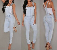 Women Trouser Girls Jumpsuit Romper Overall Sexy Jeans Denim Hole Loose Pants