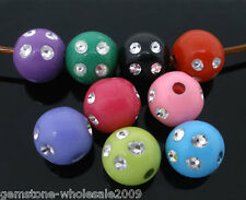 Wholesale Lots Mixed Color Plastic Spacers Beads 8mm Dia.