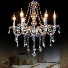 Cognac Crystal Chandelier Lighting 6/8 Lights Fixture Pendant Ceiling Lamp