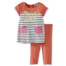 Juicy Couture Baby 2pc dress Top Tunic Leggings pants set 12 18 Months pink
