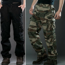 2016 NEW MENS FOXJEANS CAUSAL CAMO MILITARY PANTS ARMY CARGO WORK TROUSERS 29~38