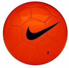 Nike Sports Soccer Ball 32 Panel Machine-Stitched Team Training Football Orange