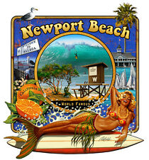 The Wedge - Newport Beach T Shirt, Designed exclusively for us by Rick Rietveld