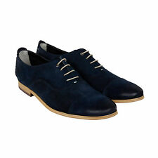 Clarks Chinley Cap Mens Blue Suede Casual Dress Lace Up Oxfords Shoes