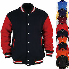 Men American Baseball Letterman Varsity College University Jacket Jersey Uniform