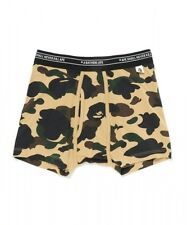 A BATHING APE 1ST CAMO TRUNKS Green/ Yellow Mens Underwear Boxer New From Japan