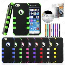 For Black iPhone 6S Case Hybrid Shockproof Hard Heavy Duty Rubber iPhone 6 Cover