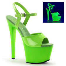 SKY-309UV PLEASER Neon Green POLE DANCE STRIPPER SHOE
