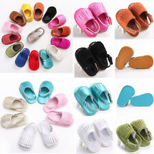 Baby Fashion Soft Sole Scrub/Leather Shoes Toddler Boys Girl tassel shoes QTFB