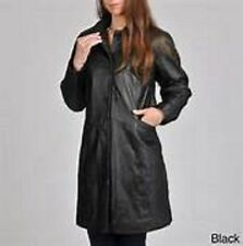 NWT Excelled Black Button Front Leather Coat Size M. MSRP.$249.99 Last One