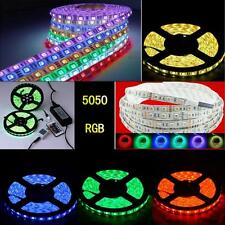 5050/3528 RGB 5M / 10M SMD 12V LED Waterproof Strip Light Adapter+ IR Remote