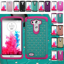 For LG G3 (2014) Hybrid Hard Diamond Heavy Duty Bling Case Skin Phone Cover