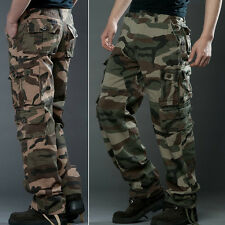 Mens Fashion Casual Cotton Military Army Combat Casual Pants Camouflage Trousers