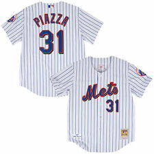 Mike Piazza New York Mets Mitchell & Ness Authentic Jersey - White - MLB