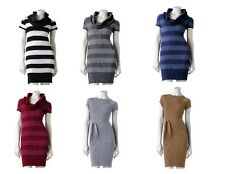 Juniors Solid or Stripe Sweater Dress Derek Heart Sweaterdress M L Color Choice