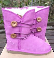 NEW UKALA Big  GIRLS Amelia Low winter boots PURPLE MAUVE sizes 3