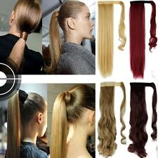 One Piece Wrap Around Ponytail Clip In Hair Extensions Pony Tail UK Fake Hair