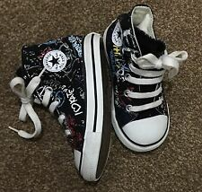 converse all star hi top trainers black Writing shoes size uk 6