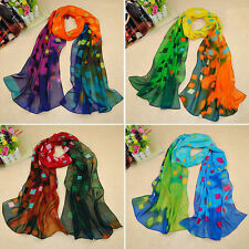 Womens Fashion Long Soft Wrap Lady Shawl Silk Chiffon Scarf Lady Scarves