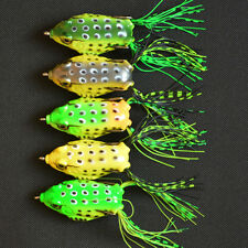Practical Topwater Fishing Lure Cute Frog Crankbait Hooks Bass Bait Tackle New