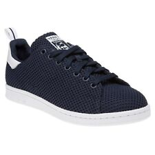 New Mens adidas Blue Stan Smith Ck Nylon Trainers Court Lace Up