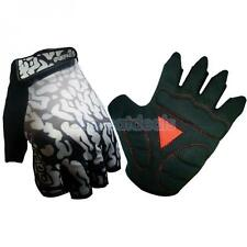 Sports Cycling Bicycle Bike Unisex Gel Half Finger Gloves M/L/XL/XXL White/Red