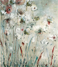 'Night Flowers' by Jill Martin Painting Print on Wrapped Canvas