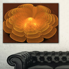Water Lily Digital Art Fractal Flower - Large Floral Canvas Art Print