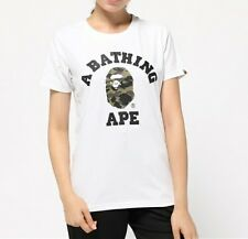 A BATHING APE 1ST CAMO COLLEGE TEE 6 colors Print BAPE Womens T-shirt From Japan