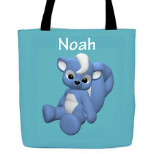 Personalized Tote / Book Bag - Cartoon Animals for Babies and Toddlers