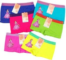 6 pk Girls Seamless Boxer Shorts Flower Girl Princess Underwear SLBG802Bot S~L