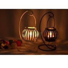 White/Black Pumpkin Lantern Candle Tealight Stand Holder Table Centerpiece Decor