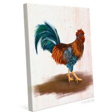 Click Wall Art Painted Rooster Painting Print on Wrapped Canvas