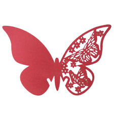 50pcs Butterfly Laser Cut Place Cards Wine Glass Wedding Party Home Decoration