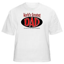 World's Greatest Dad - Old English Sheepdog T-Shirt - Sizes Small through 5XL