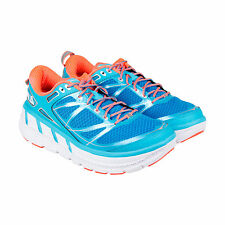 Hoka One One Odyssey Womens Blue Mesh Athletic Lace Up Running Shoes