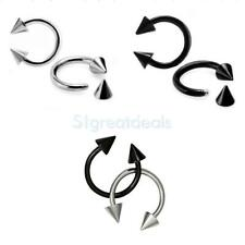 Fashion Stainless Steel Circular Spike Ballbell Horseshoe Lip Ear Eyebrow Rings