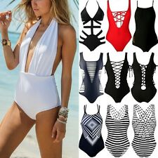 Sexy One Piece Monokini Bikini Set Push Up Padded Swimwear Bathing Bathers FO