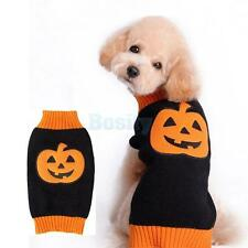 Pet Dog Cat Puppy Halloween Pumpkin Sweater Warm Clothes Apparel Holiday Costume