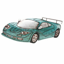 Green Racing Car ~ Metal Boys Man Cave Wall Art   MWA406