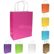 10 Bright Paper Party Gift Treat Bags Wedding Loot Shopping Carrier Retail Bag