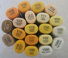 Brand New! Copic Sketch Dual Tip Markers (Yellow Colors) FREE Shipping!