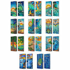 OFFICIAL DREW BROPHY SURF ART 2 LEATHER BOOK WALLET CASE FOR SAMSUNG PHONES 3