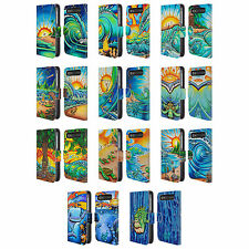 DREW BROPHY SURF ART 2 LEATHER BOOK CASE FOR BLACKBERRY ASUS ONEPLUS PHONES