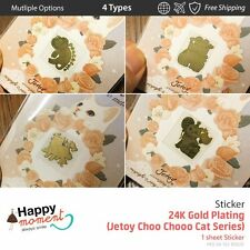 (4 Types) 24K Gold Plating (Jetoy Choo Chooo Cat Series) Sticker 1 sheet