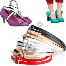 Detachable PU Leather High Heels Shoe Straps  - To hold loose high heeled shoes