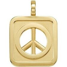 PEACE SIGN PENDANT 8+ Grams 14kt White, Rose & Yellow Gold  or  Sterling Silver