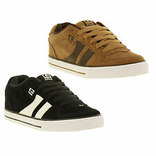 Globe Encore 2 Mens Black Tan Suede Leather Skate Trainers