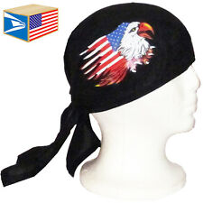SKULL CAP HAT USA Torn Flag American Bald Eagle DURAG DU DOO DO RAG LOT 1/3/6/12